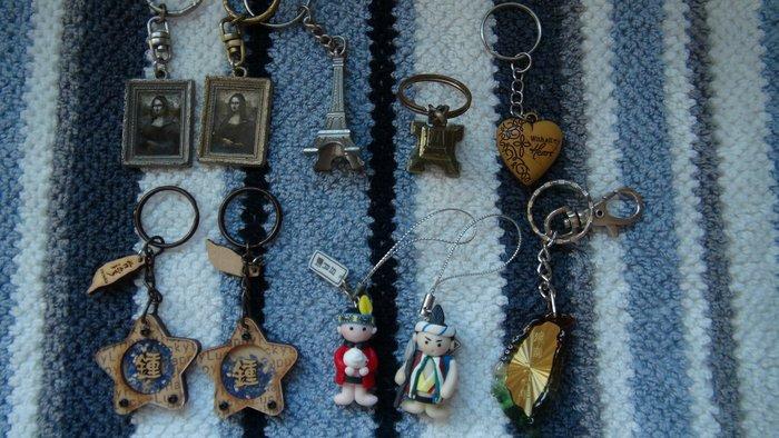 C.M. 館  用品 異國名勝 鑰匙圈 法國巴黎帶回 建國100年 鑰匙圈 阿里山鑰匙圈