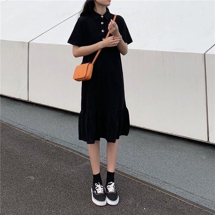 小尤家~不一樣的閨蜜裝裙子夏裝新款港味chic百搭學生寬松中長款連衣裙女