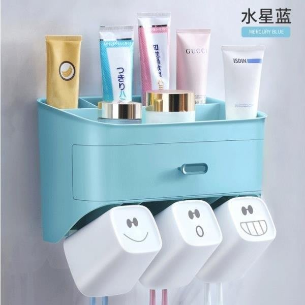 YEAHSHOP 佳幫手牙刷置物架衛生間洗漱臺漱口杯吸壁式Y185