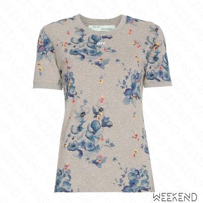 【WEEKEND】 OFF WHITE Floral 花朵 off小字 背後印字 短袖 T恤 18新款