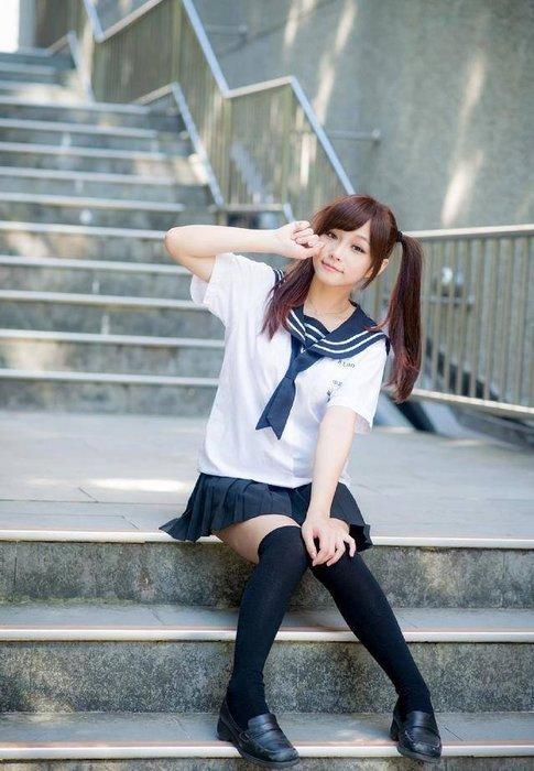 199免運(下標前~請告知尺寸)╭*水手服專賣店* 台北三峽 明德高中 夏季女學生水手服一套