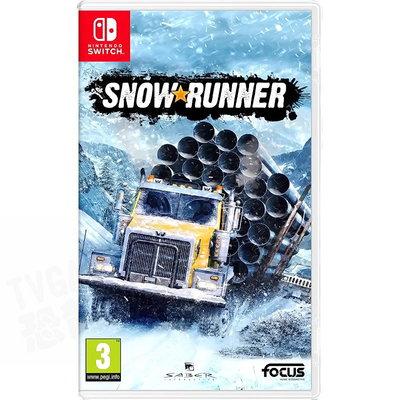 【全新未拆】任天堂 SWITCH NS NS 雪地奔馳 冰雪奔馳 SNOWRUNNER 中文版【台中恐龍電玩】