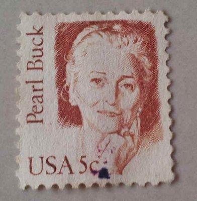 美國作家 Pearl Buck 賽珍珠 USA 5c 郵票~60元起標~