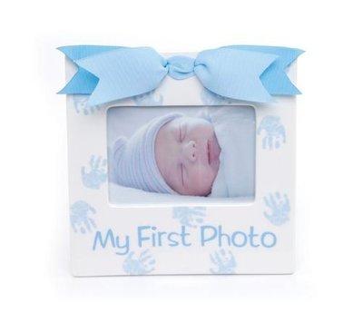美國Mud Pie My First Photo Frame第一陶瓷相框(藍色) ☆現貨☆