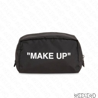 【WEEKEND】 OFF WHITE Quote Make Up 收納包 化妝包 黑色 19秋冬