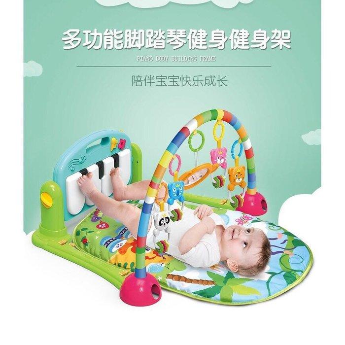 ✿荳荳小舖✿聖誕節 彌月 週歲  週歲禮物 交換禮物 新生嬰兒腳踏鋼琴健身架-健力架-鋼琴毯-地墊(綠色/水藍/櫻花粉)