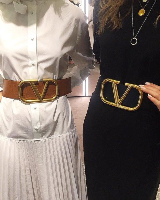 【代購】極美 Valentino Vlong 大V 雙面腰帶 皮帶
