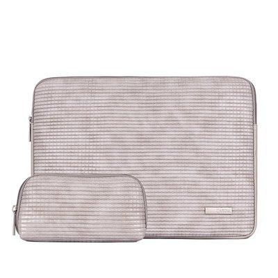 手拿包皮革電腦包-簡約方格壓紋加絨男女包包73vy17[獨家進口][米蘭精品]