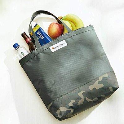☆Juicy☆日本雜誌附錄 HAMILTON 漢米爾頓 迷彩 便當袋 托特包 保溫包 環保袋 購物袋 保冷提袋 2216