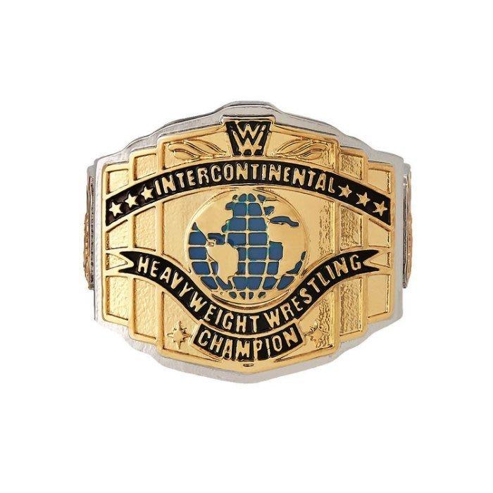 ☆阿Su倉庫☆WWE White Intercontinental Championship Ring 洲際冠軍限量戒指