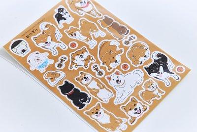 小飯糰 柴柴團圓飯 刀模貼紙 柴犬 手帳貼紙