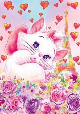 日本進口拼圖專賣店_266片 環保塑料拼圖 迪士尼 巴黎瑪麗貓 DPG-266-579