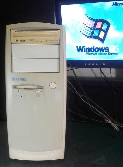 【窮人電腦】跑Windows 95系統!自組有ISA插槽的聯強工業主機出清!雙北桃園免費送,外縣可寄!