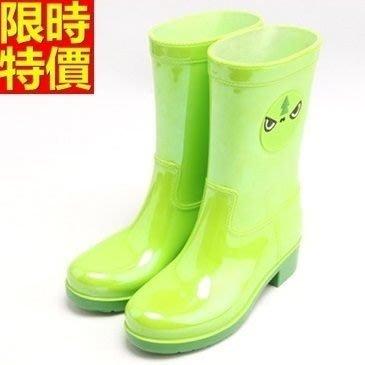中筒雨靴子 雨具-可愛糖果撞色萌物女雨鞋子4色66ak6[獨家進口][巴黎精品]