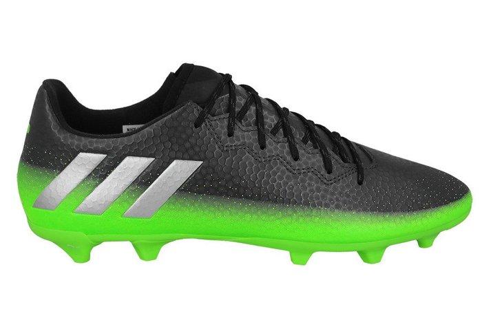 運動GO~ 愛迪達 adidas MESSI 足球鞋 室外 膠釘 AQ3519 黑綠 Soccer Football