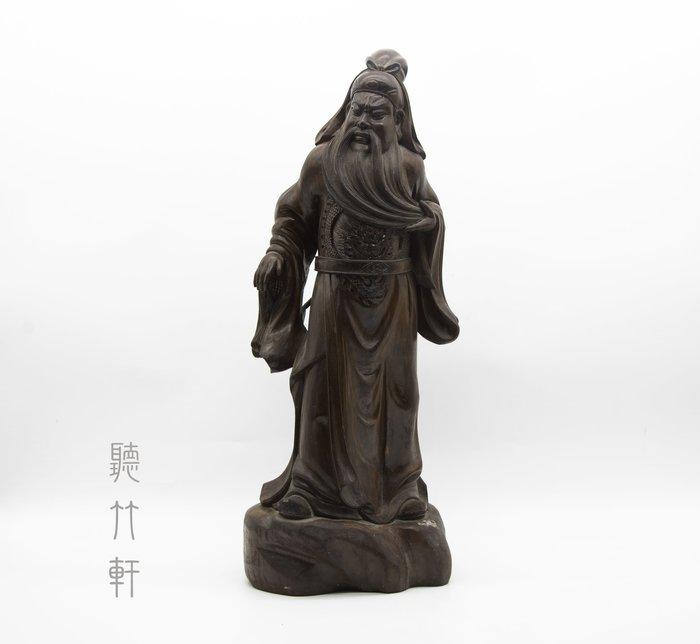 【聽竹軒】木雕關聖帝君立像