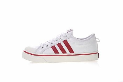 D-BOX  Adidas Nizza Lo CQ2328 帆布板鞋 學院風 米白酒紅 CQ2328