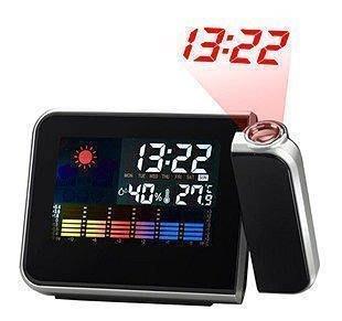 長時間投影鬧鐘 電子鬧鐘 投影鐘 桌鐘 溫度/濕度旋轉投影鐘電子鐘(促銷)299元