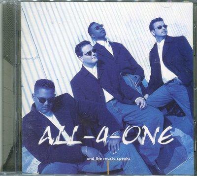 【黑妹音樂盒】合而為一 All-4-One - 聽音樂在說話 And The Music Speaks ----二手CD