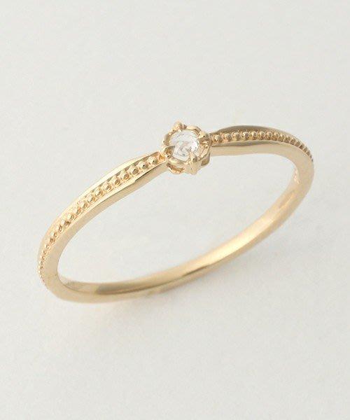 【日本代購】小店主的購物小店:agete 戒指 agete FIRST K10リング 15164111007
