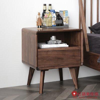 [紅蘋果傢俱]HM004 床頭櫃 北歐風床頭櫃 日式床頭櫃 實木床頭櫃 無印風 簡約風