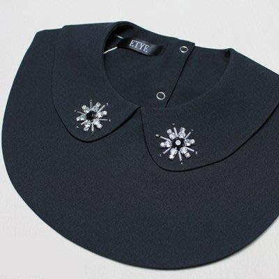 假領子 襯衫 領片-水鑽釘珠娃娃領純色女裝配件2色73va27[獨家進口][米蘭精品]