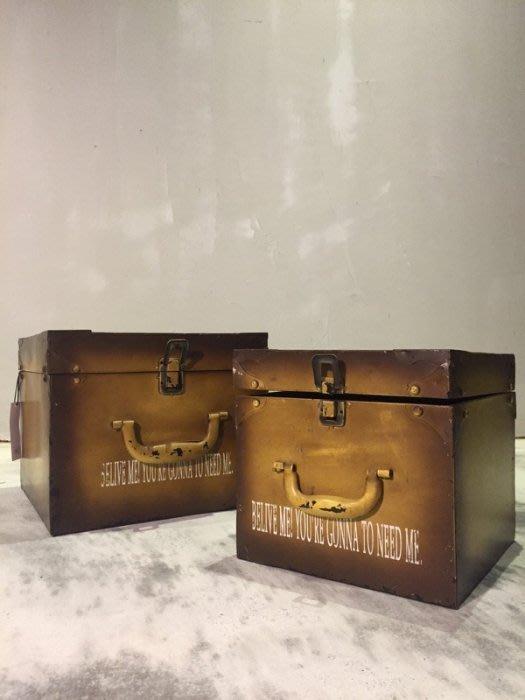 【曙 muse】 美式鐵製箱中箱收納櫃 展示盒 陳列箱 表面仿舊處理一組 loft 工業風 咖啡廳 民宿 餐廳 住家