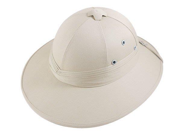【二鹿帽飾】專用探險帽 帽沿超大超硬款/露營專用-全新上市 -米白色