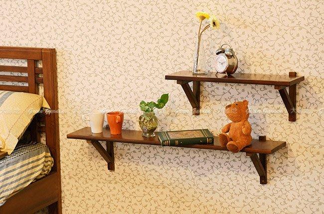 牆掛式 置物架 (61)【大綠地家具】100%印尼柚木實木/花架/層架/DIY手作風