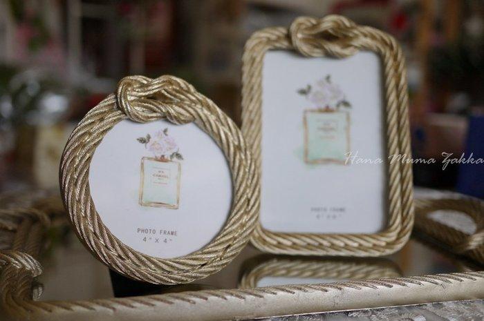 麻繩 編織 金色 圓形 相框 4*4 四乘四 相片 掛框 樹脂 佈置 法式 奢華 鄉村風 法式風 相片牆 設計北歐 婚禮