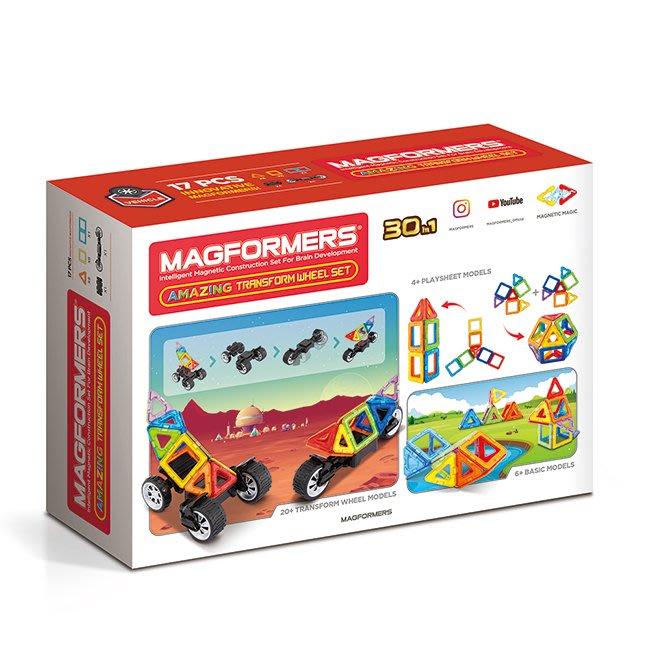 【Magformers】磁性建構片-車輪變變變
