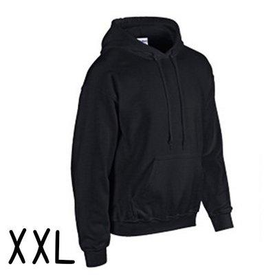 GILDAN 真品 美國棉 輕質感 中性 連帽 T恤 XXL (黑色) 帽T 情侶裝