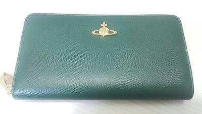 Vivienne Westwood 銀包 Wallet Saffiano 5140 Green