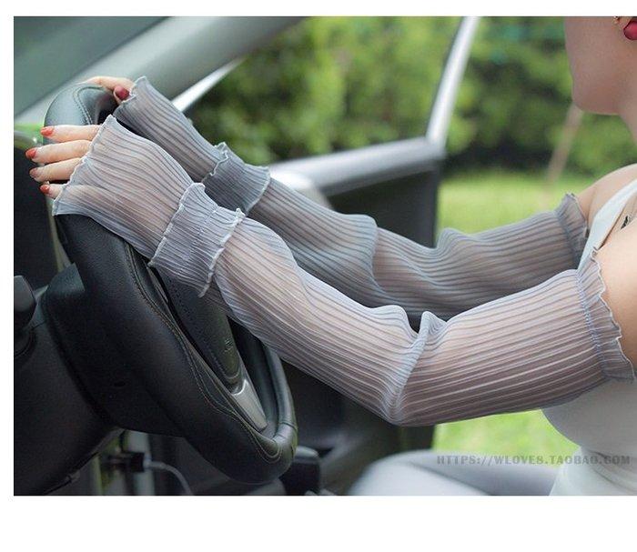 福福百貨~夏天防曬袖套女長款蕾絲手套薄款防紫外線冰袖開車手袖護臂手臂套~多款颜色