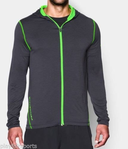 ((綠野運動廠))最新原裝UNDER ARMOUR HG Tech連帽外套,舒適快排抑菌抗臭,寬鬆版型(免運)