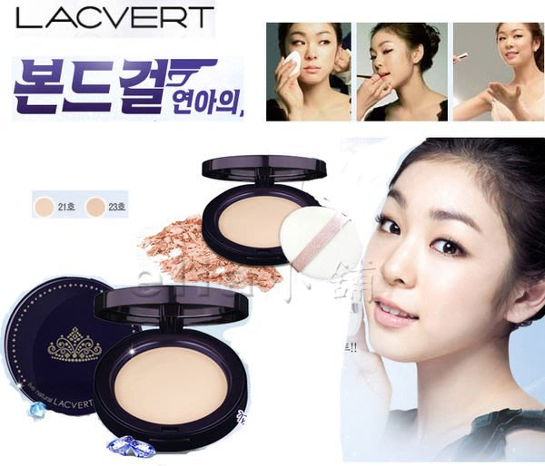 ○☆╮ella小舖╭☆○韓國原裝~LG  LACVERT『保濕粉餅』(一組2個粉餅芯)~舊滑蓋粉餅-可面交