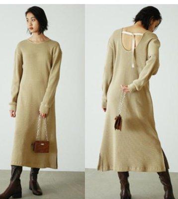 【WildLady】 日本氣質簡約開叉邊休閒針織裙 連身裙FRAY I.D