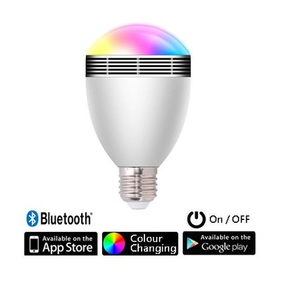 IB 奇點生活 + 新 2 in 1 智能 LED RGB 可變色燈膽 燈泡 + 喇叭 藍芽 LED (支援 IOS, Android)