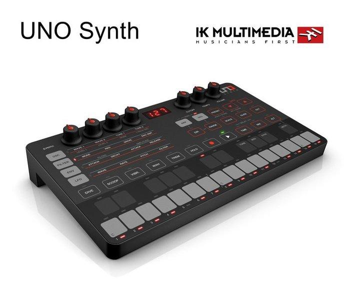 ☆唐尼樂器︵☆[公司貨免運] IK Multimedia UNO Synth 模擬合成器|旗艦級綜合音色控制 一年保固