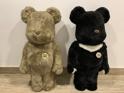 Bearbrick HF BWWT Almost Famous 1000% Black & Brown set