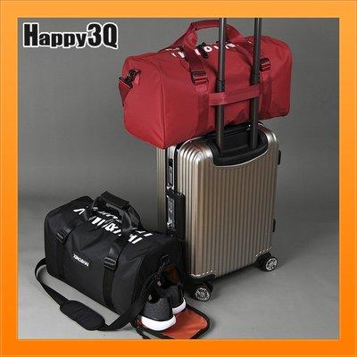 行李袋大容量旅行包手提包收納鞋子包運動包健身包斜背包重訓包-黑/紅【AAA5091】