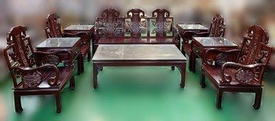 【宏品二手家具館】 原木家具 RW102804紅木沙發10件組椅*實木木板椅/客廳桌椅/日式條子沙發組椅