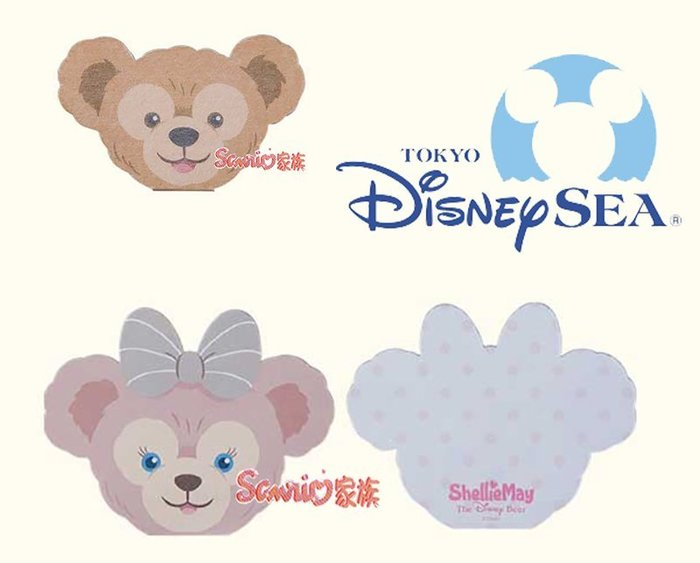 《東京家族》東京迪士尼樂園限定DUFFY達菲熊 雪莉玫 便條紙 2選1