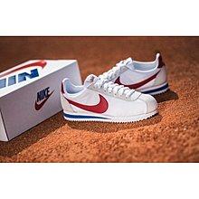 NIKE CORTEZ 45周年 尼龍 麂皮 經典 白 紅尾 白紅藍 阿甘 復古 慢跑鞋 男女鞋 882258-101