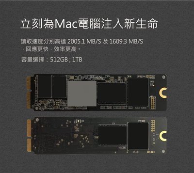 Macbook Air/Pro upgrate (for2013~2017年)A1398/A1465/A1466 1TB
