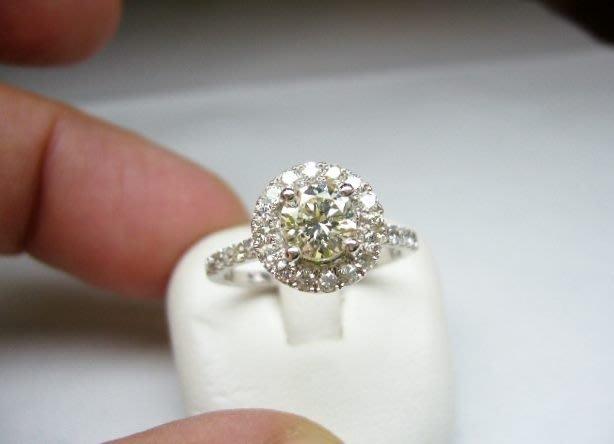 [吉宏精品交流中心]66分 南非天然鑽石 白K金 豪華 造型 戒指