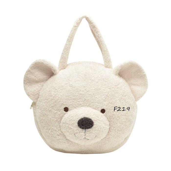 F219動物樂隊系列小熊頭手拎包 肩背包  購物包側背包$790Gelato pique