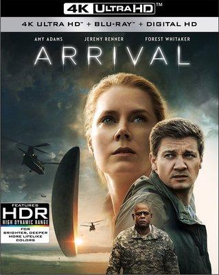 毛毛小舖--藍光BD 異星入境 Arrival 4K UHD+BD雙碟限定版 艾美亞當斯 傑瑞米雷納
