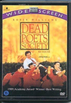 正版全新DVD~春風化雨Dead Poets Society~羅賓威廉斯主演~英文, 繁體中文字幕
