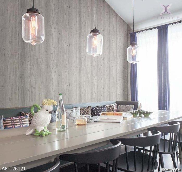 【夏法羅 窗藝】日本進口清水模木紋 工業風 仿真仿建材壁紙 AE-126121